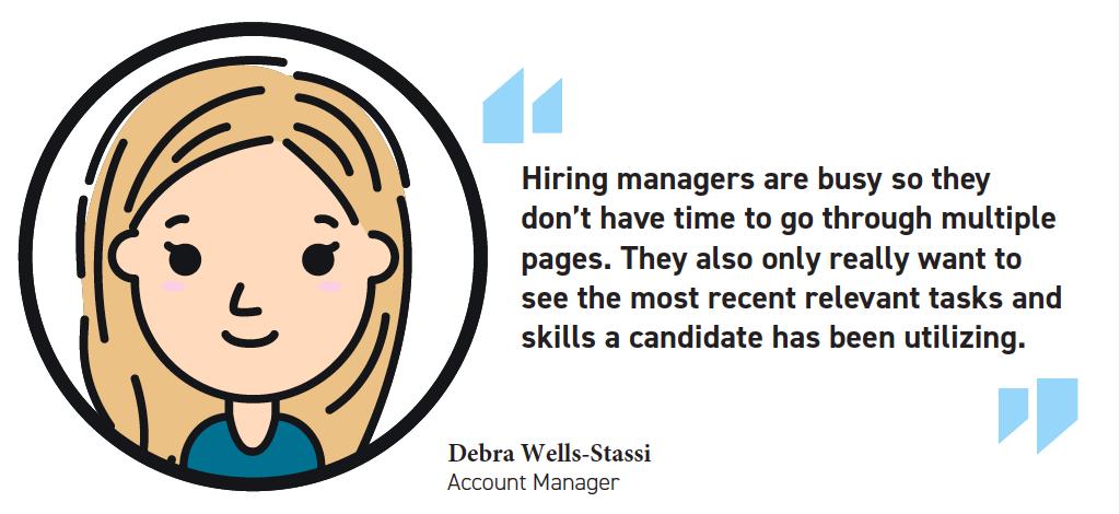 Debra One Page Resume Quote
